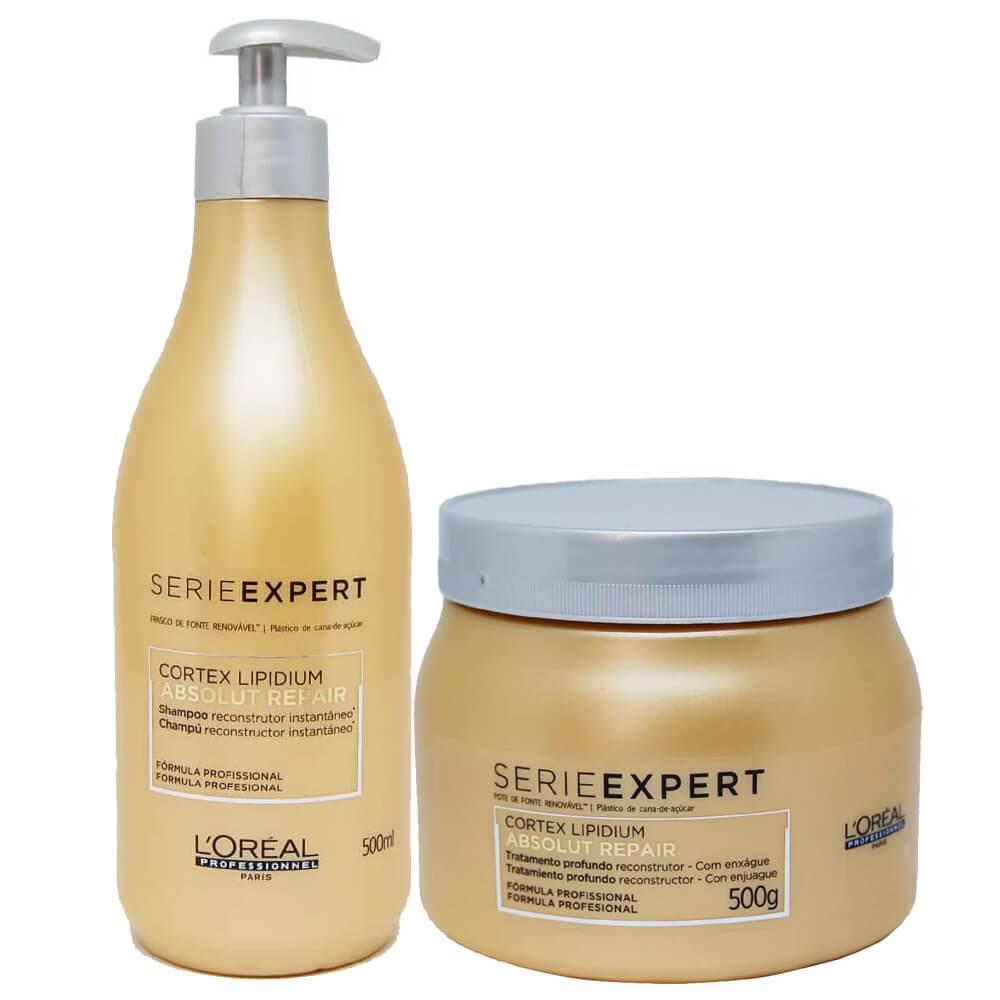 4b149ef36 Kit LOréal Professionnel Absolut Repair Cortex Lipidium Shampoo 500ml +  Máscara 500g R$ 381,99 à vista. Adicionar à sacola