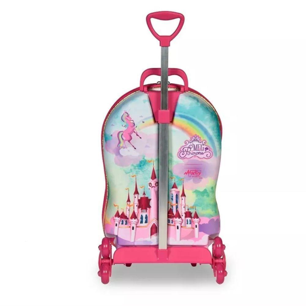 3d7196352 Kit Mochila 3D c 3 Rodinhas e Lancheira Infantil Princesa Meg Maxtoy -  Diplomata R  329