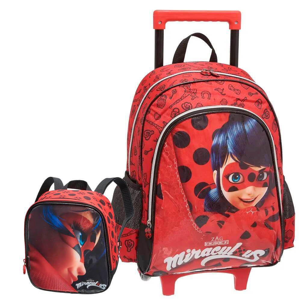 Kit Mochila Rodinhas Miraculous LadyBug e Lancheira Termica Produto não  disponível ceac176c24e17