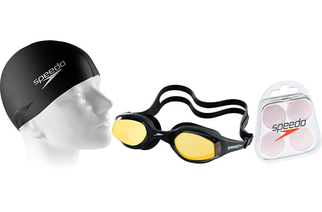 c15248a97 Kit Natação Speedo com Óculos Tempest Mirror + Protetor + Touca Produto não  disponível