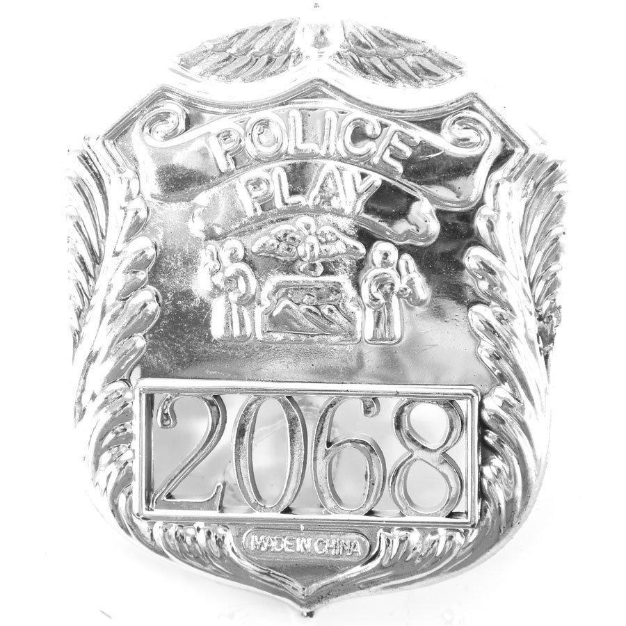 Kit Policial Quepe + Cassetete + Algema + Broche - Aluá festas R  42 9511a600ce9