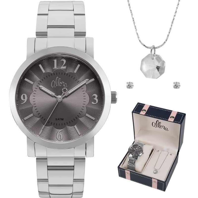Kit Relógio Allora Feminino com Colar e Brincos AL2035FNC K1C - Produto não  disponível 0ffd0ef8be