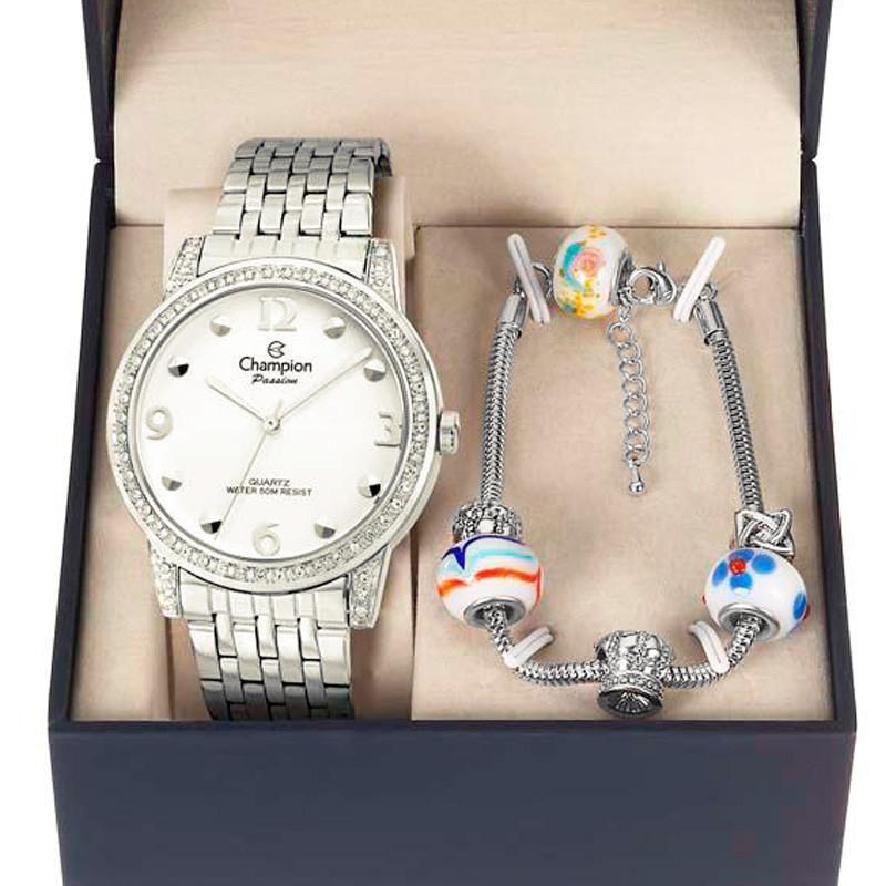 3c9f6f70023 Kit Relógio Champion Feminino Passion - CN28811Y - Magnum Produto não  disponível