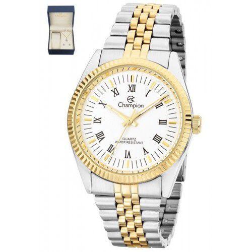552ca2f579c Kit Relógio Champion Feminino Prata e Dourado CH22859D - Relógio ...