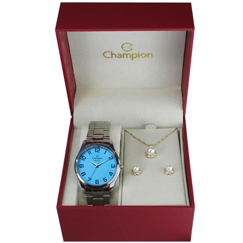 7d498a38d5c Kit Relógio Champion Rainbow Feminino CN29883N - Relógio Feminino ...