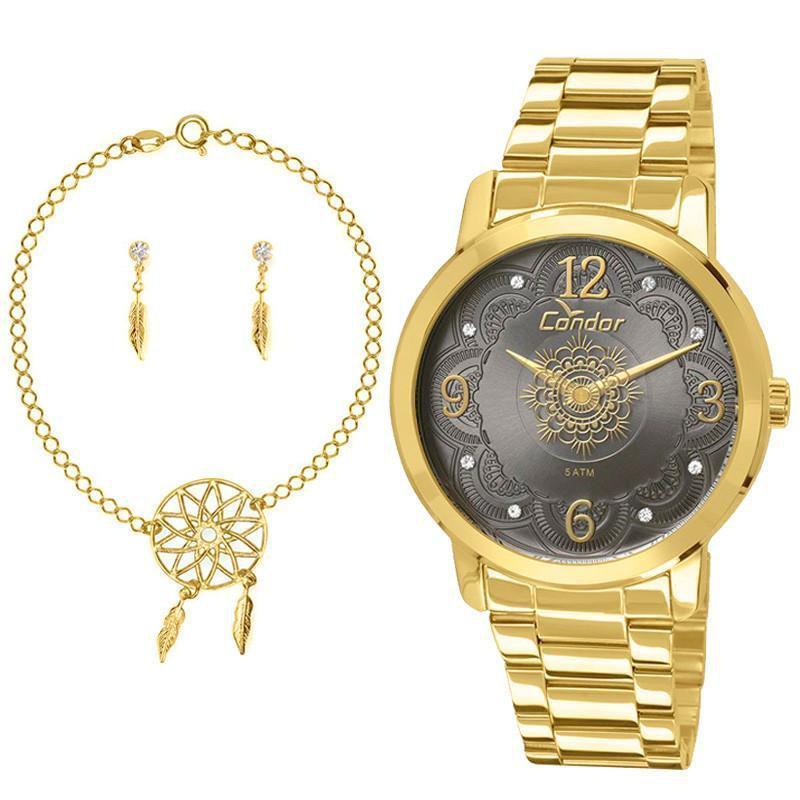 a4512eec467 Kit Relógio Condor Feminino Mandala - CO2036CN-K4C - Technos Produto não  disponível