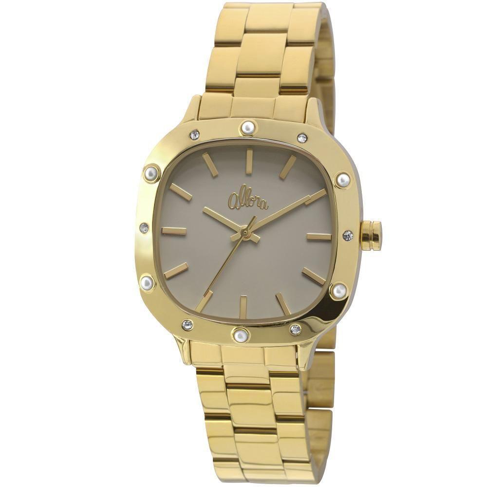 727b325c3e1b4 Kit Relógio Feminino Allora Analógico + Colar e Brincos - ALPC21AH K4C -  Dourado Produto não disponível