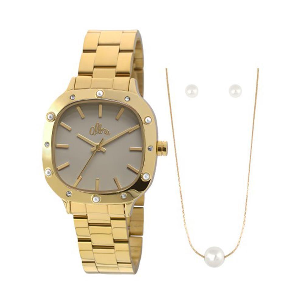 Kit Relógio Feminino Allora Analógico + Colar e Brincos - ALPC21AH K4C -  Dourado Produto não disponível bc68563d11