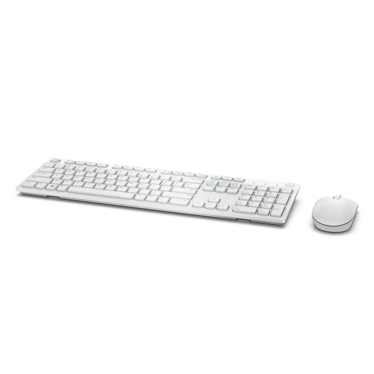 Kit Teclado E Mouse Wireless Dell Km636 Branco R One 11900 Vista Adicionar Sacola