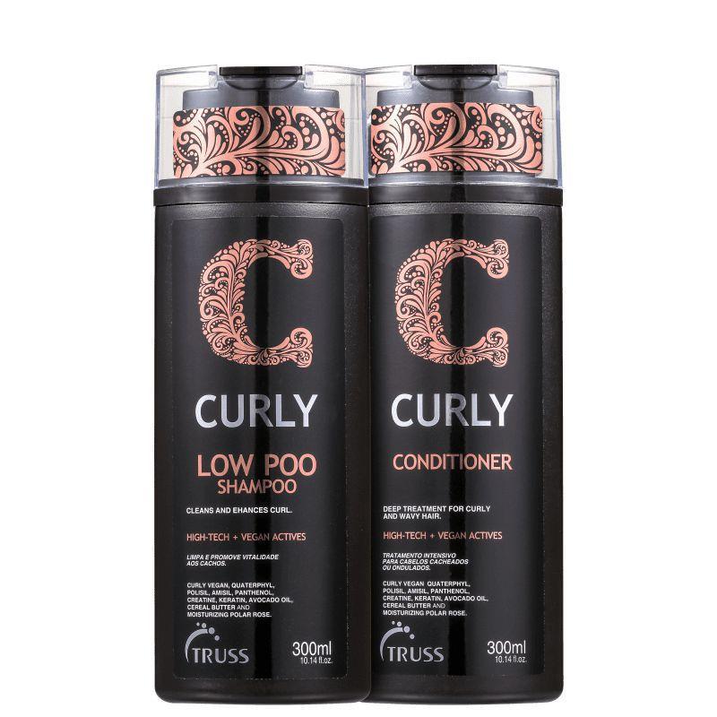 Kit Truss Curly Low Poo Shampoo 300ml + Condicionador 300ml - Truss Professiona