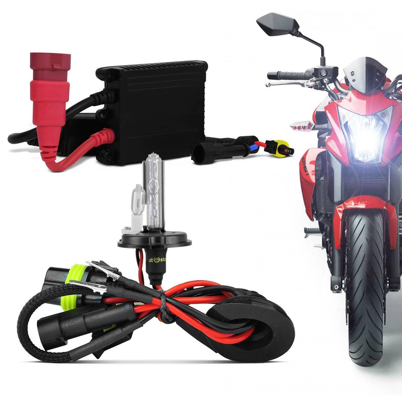 kit xenon moto completo h4 2 6000k extremamente branca prime l mpadas magazine luiza. Black Bedroom Furniture Sets. Home Design Ideas
