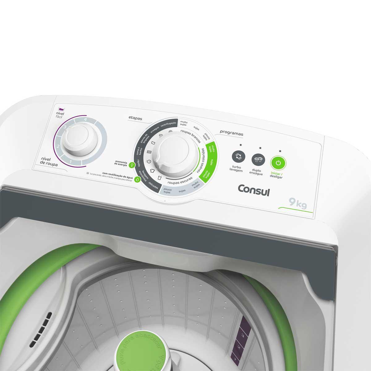 lavadora de roupas 9kg consul cwe09ab m quina lavadora. Black Bedroom Furniture Sets. Home Design Ideas