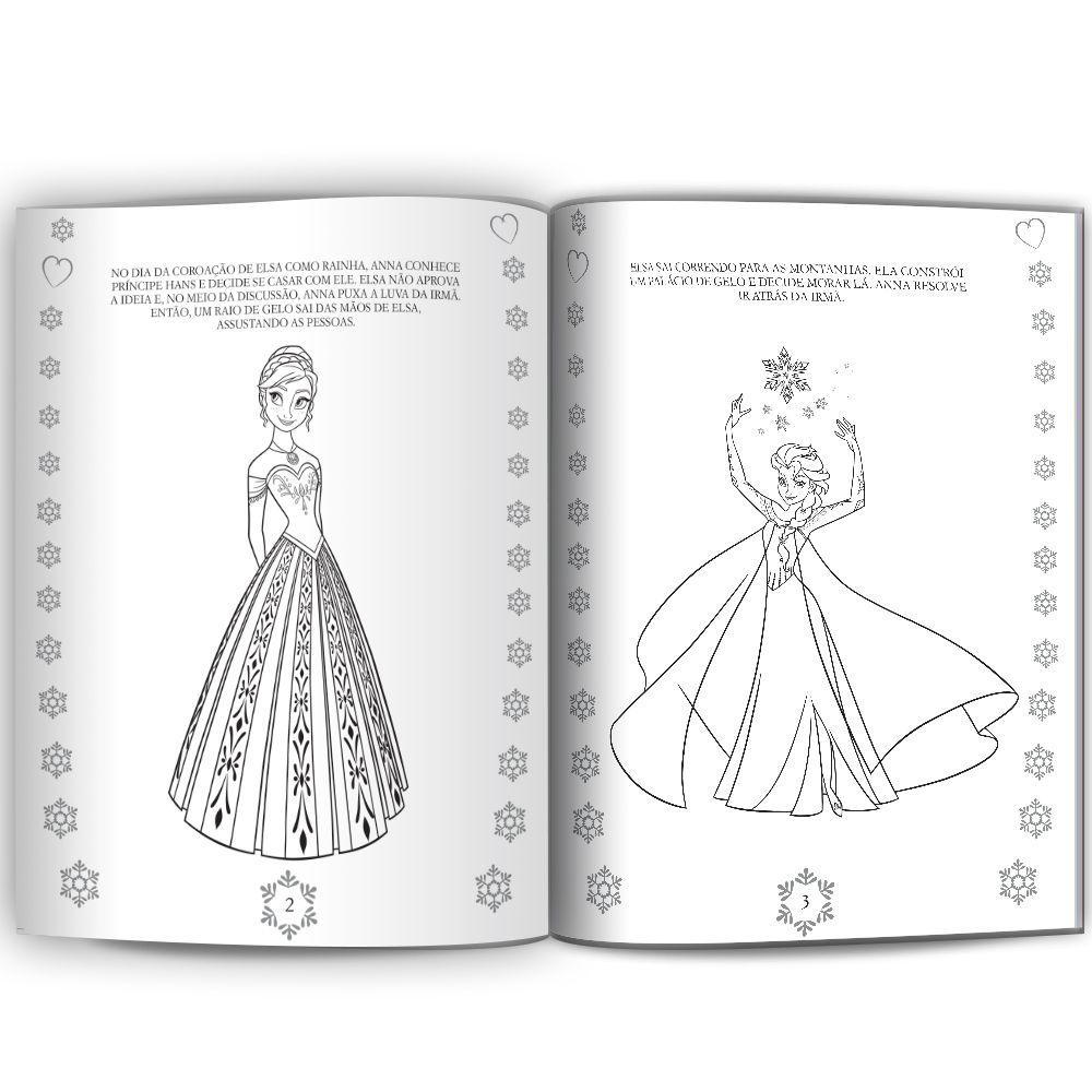 Livro Ler E Colorir Frozen Livros De Literatura Infantil
