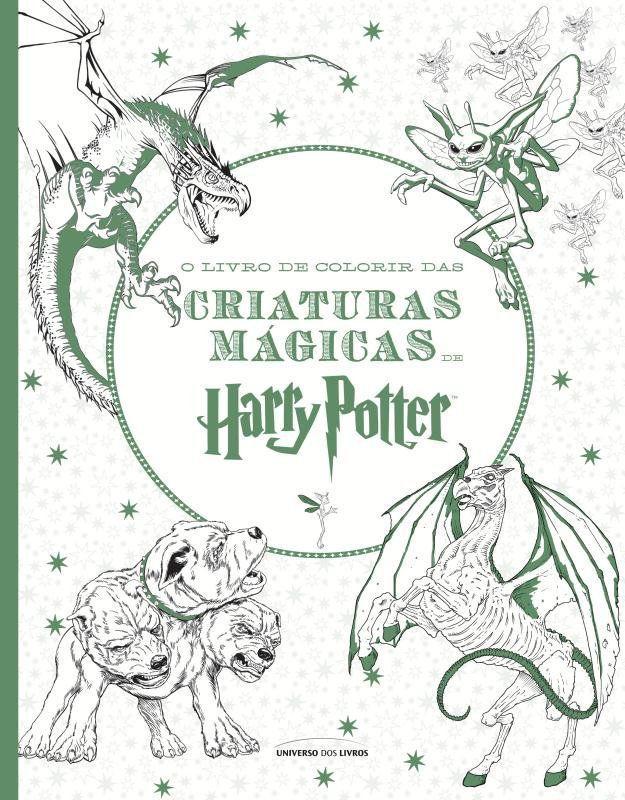 Livro O Livro De Colorir Das Criaturas Magicas De Harry Potter