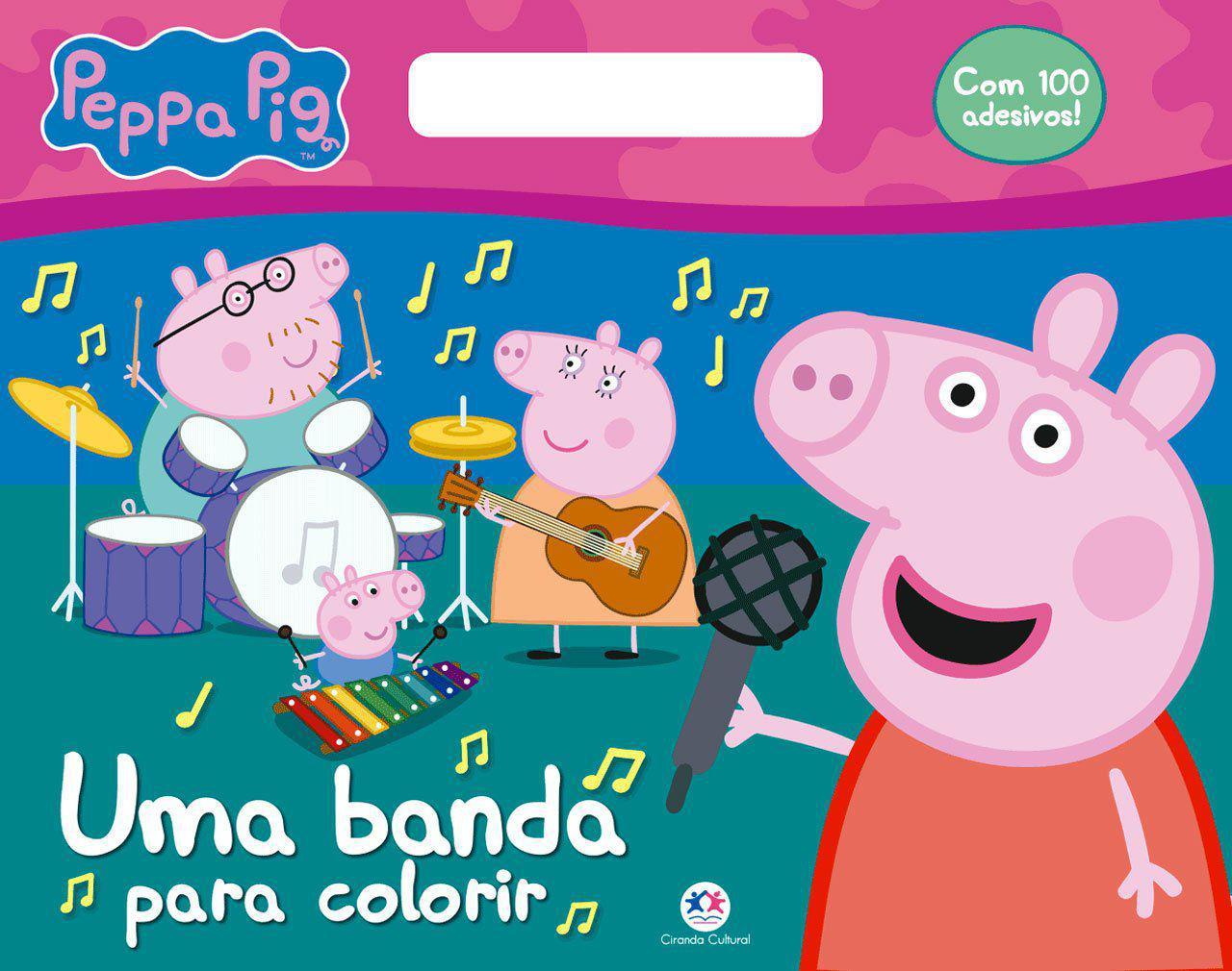 Livro Peppa Pig Uma Banda Para Colorir Livros De Literatura
