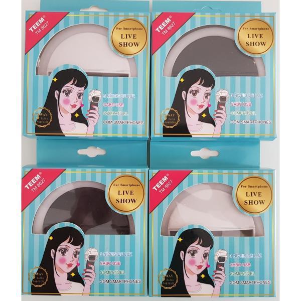 debc4bc0295 Luz Selfie Ring Light Clipe Anel Led Flash Celular Universal TM 8627 - Teem  Produto não disponível