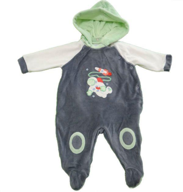Macacão Plush Astronauta - Titânio - Baby Fashion - Macacão e ... b3d03b1dbca