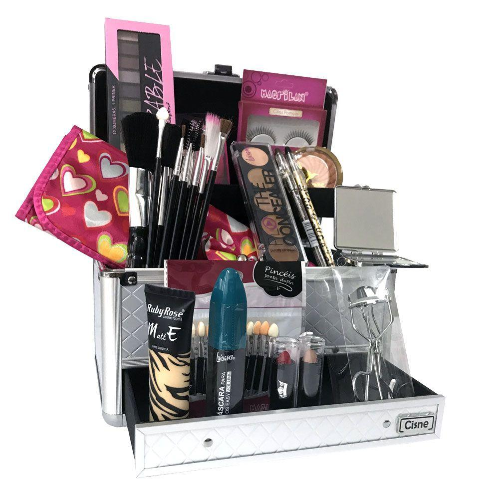 Maleta De Maquiagem Grande Kit De Maquiagem Completo