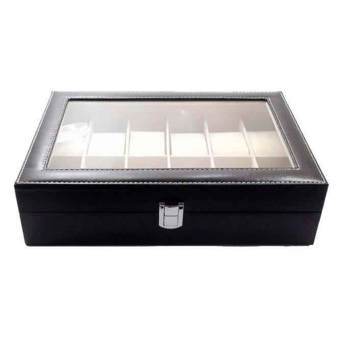 124f47d654a Maleta estojo caixa porta relogio para 6 relogios em madeira e couro -  Paris R  63