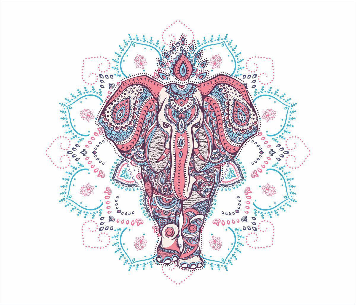 Mandala Mdf Elefante M C2 65x65cm Dhb Mandala Mdf