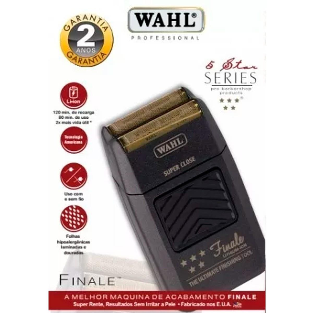 f740a89f5 Máquina Barbeador Profissional Shaver Wahl Finale R$ 588,90 à vista.  Adicionar à sacola