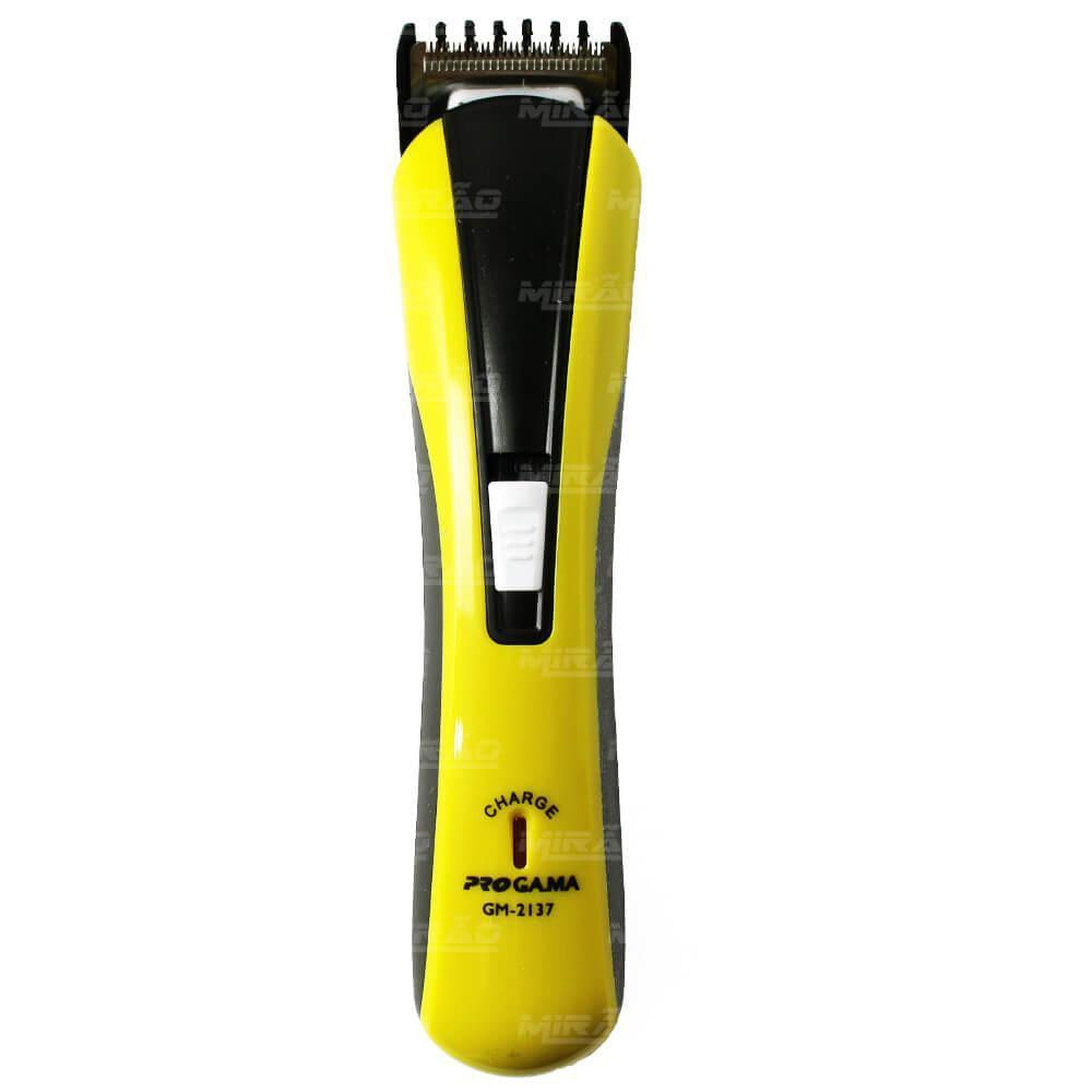 d0e04f904 Maquina de Cortar Cabelo e Barbeador Recarregável PROGA.MA amarelo - GM2137  - Nova R$ 27,50 à vista. Adicionar à sacola