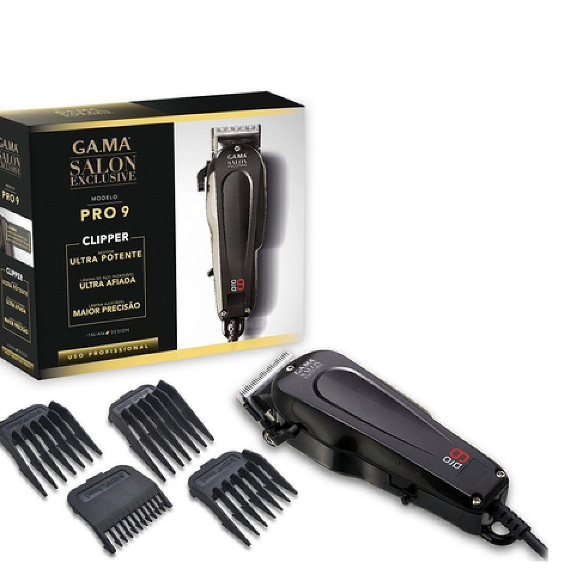 Maquina De Cortar cabelo para barbearia Gama Pro 9 220V - Gama italy R   295 e04b6c972cf1