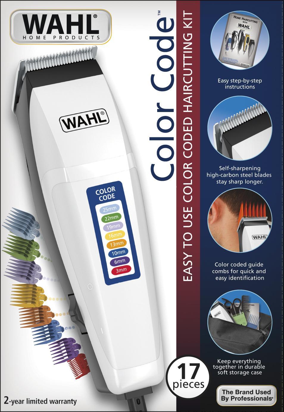 498149935 Maquina de corte de cabelo - color code 127v - Wahl R$ 264,90 à vista.  Adicionar à sacola