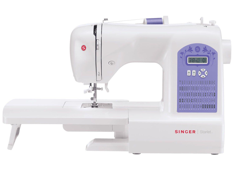 891f5b16db4ed Máquina de Costura Singer Starlet 6680 Eletrônica - 74 Pontos Mesa Extensora