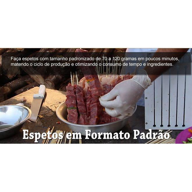 5df8e3558d3 Maquina de preparar espetinhos de churrasco cortador de carne e kafta 36  espetinhos para festas e ev - Gimp R  46