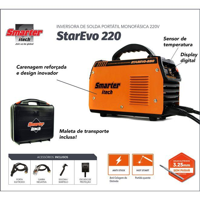 c33c43734 Maquina Solda Inversora Eletrodo Tig 220v Smart Starevo-220 - Smarter R   619