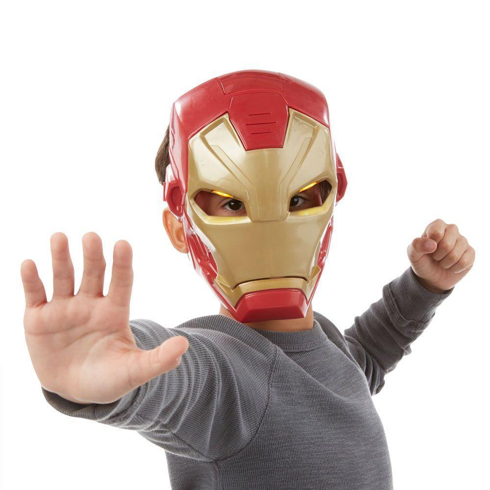 5c1e212f6b Máscara Eletrônica - Marvel - Capitão América Guerra Civil - Homem de Ferro  - Hasbro - Disney R  100