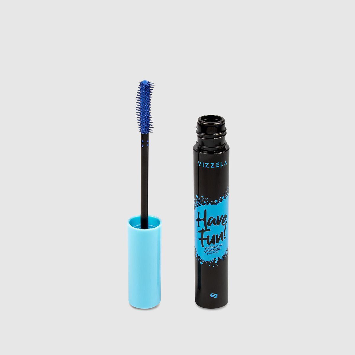 Mascara para cilios colorido have fun vizzela - azul