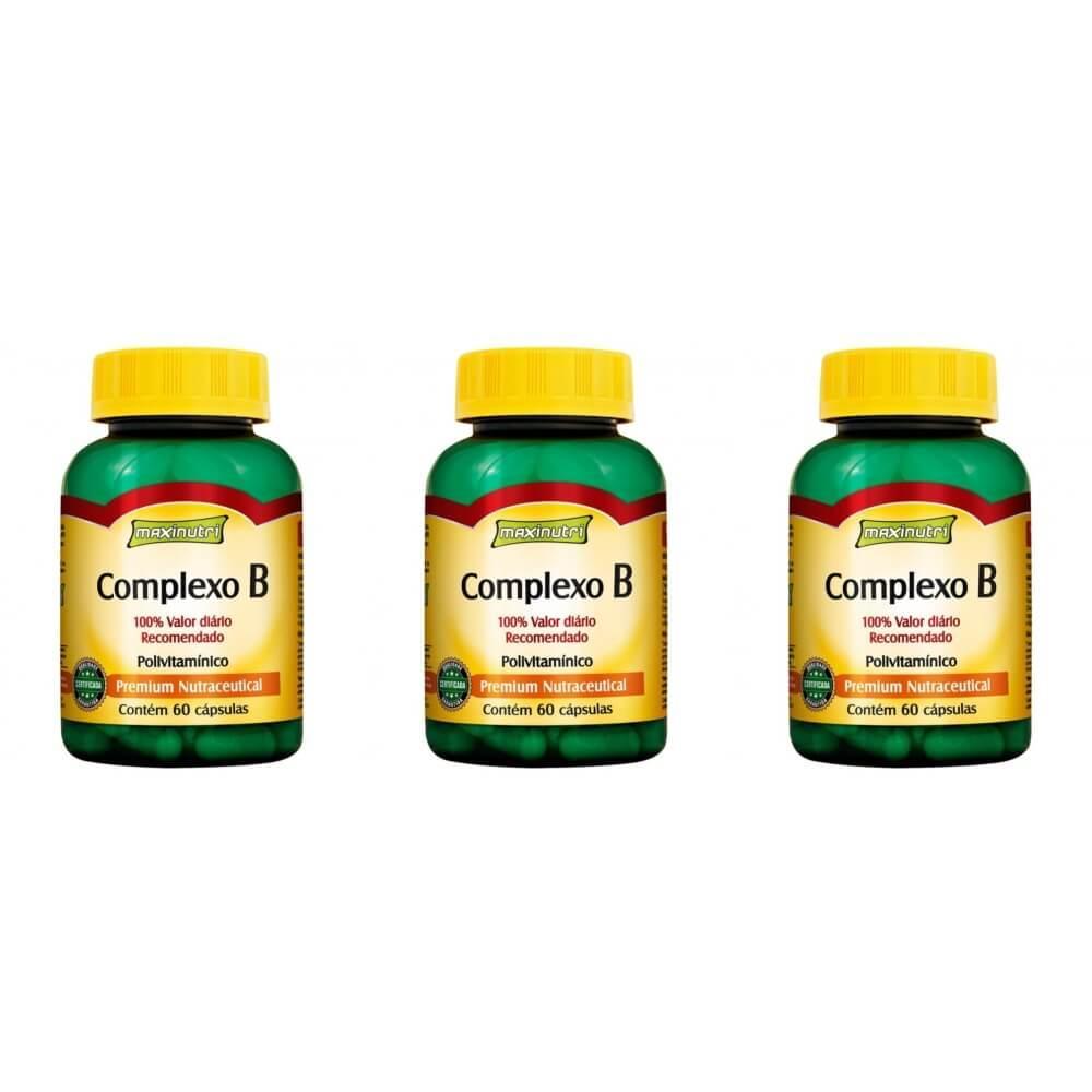fb9a5ea85 Maxinutri Vitamina Complexo B 250mg C 60 (Kit C 03) - Complexo B ...
