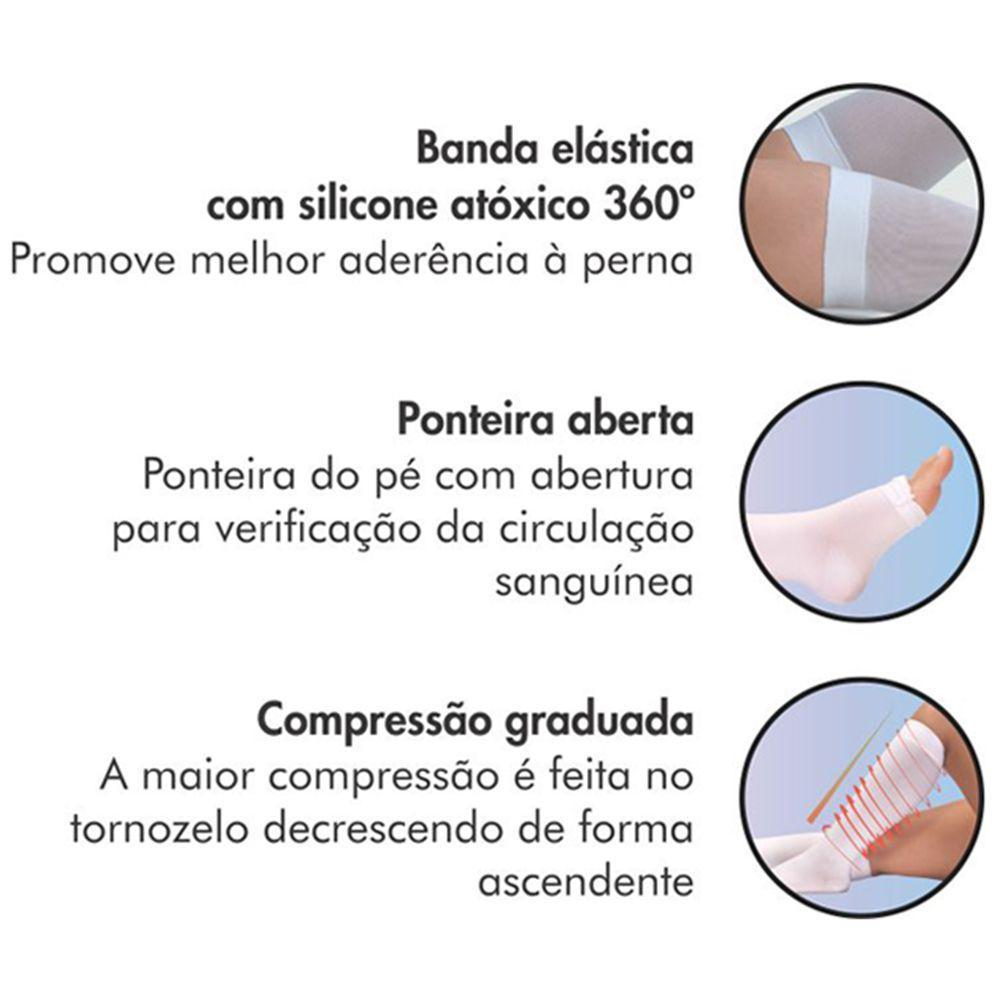 2a6bd3e15 Meia 3 4 Panturrilha 400S 18-23 Mmhg Anti-Trombo Ponteira Aberta Sigvaris  R  90