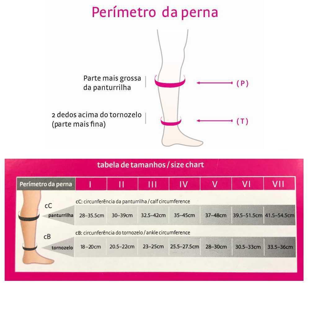 61a83d363 Meia de Compressão Medi Sheer Soft Panturrilha 3 4 (Aberto) 20-30mmHg -  Natural R  250