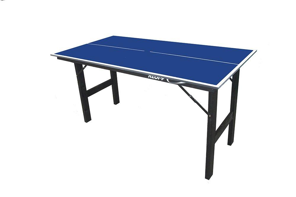 212db3907 Mesa de Ping Pong Junior 12 mm Azul + Kit de Raquetes