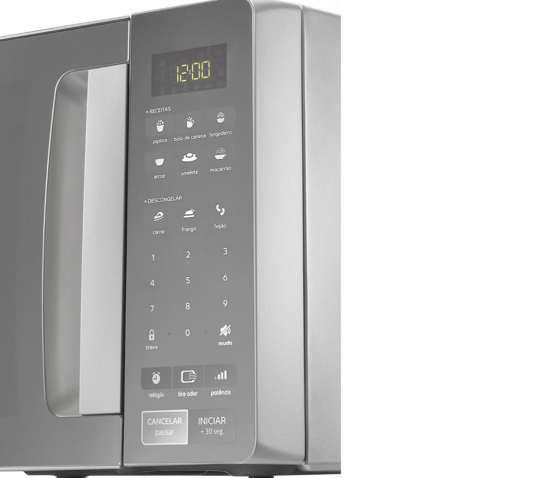 5ebfede89 Micro-ondas Consul 32 Litros cor Inox Espelhado com Função Descongelar R   579