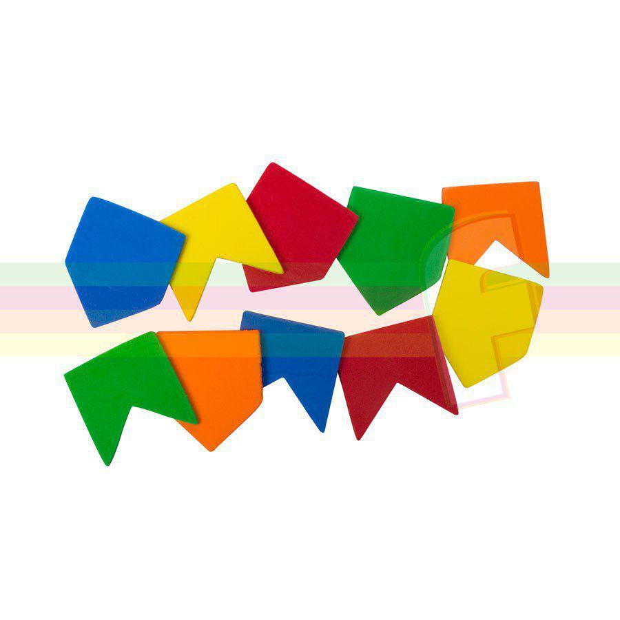 Mini Bandeirinha de EVA Festa Junina