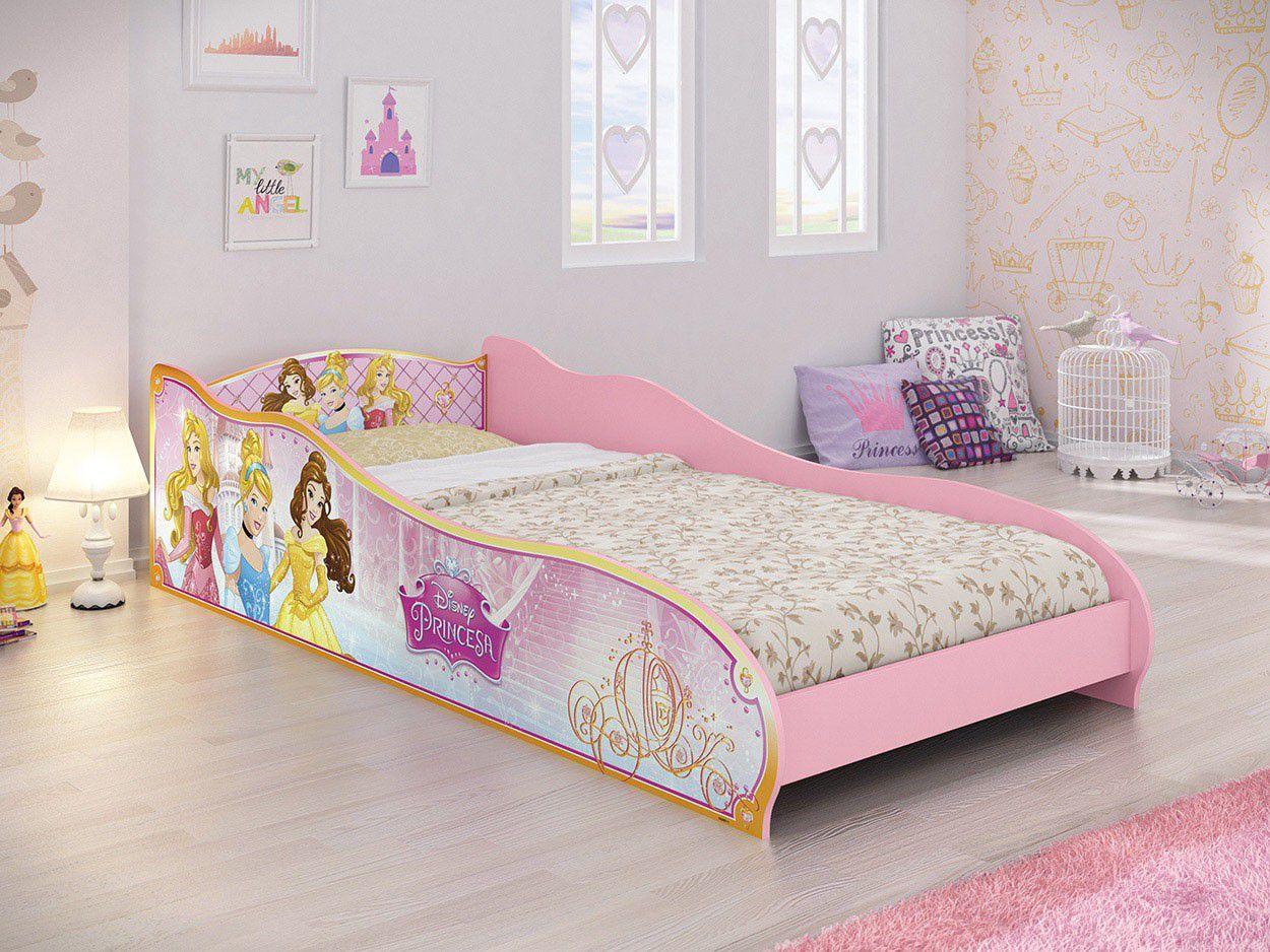 Mini cama infantil pura magia princesas disney cama for Cama infantil