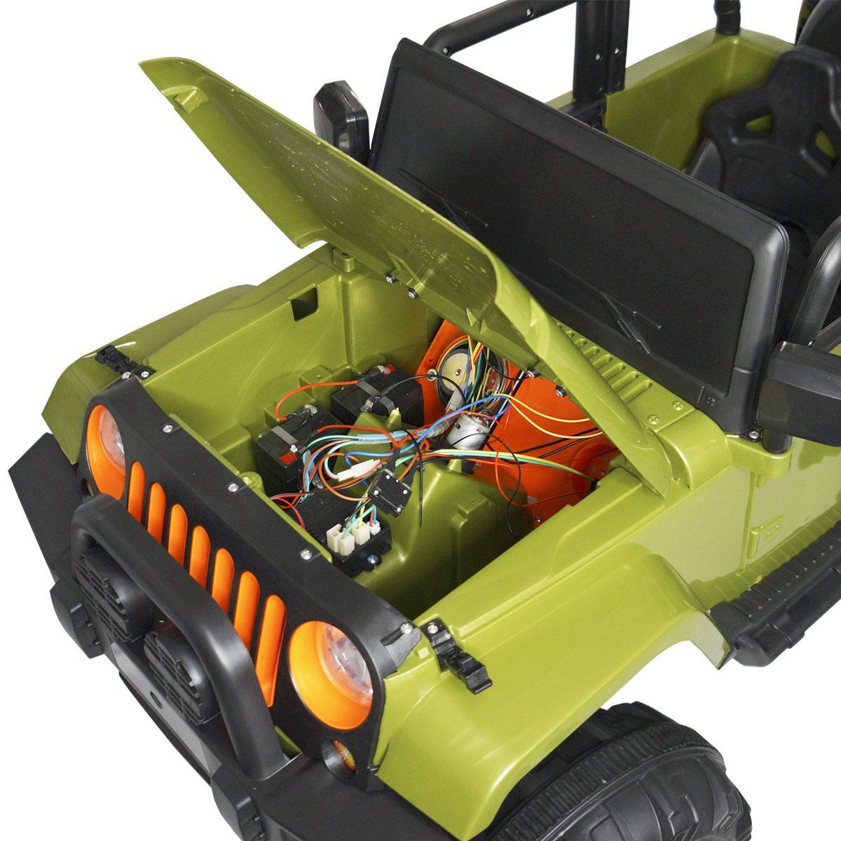 Electric 12V Crianças Brinquedos De Montar Carro Jeep 4 Rodas Música Luz Guia De Controle Remoto Pai
