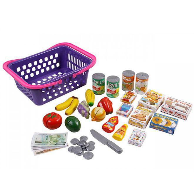 Mini mercado infantil cesta minhas comprinhas com dinheiro e produtos - Big  star Produto não disponível ba96f42948a33