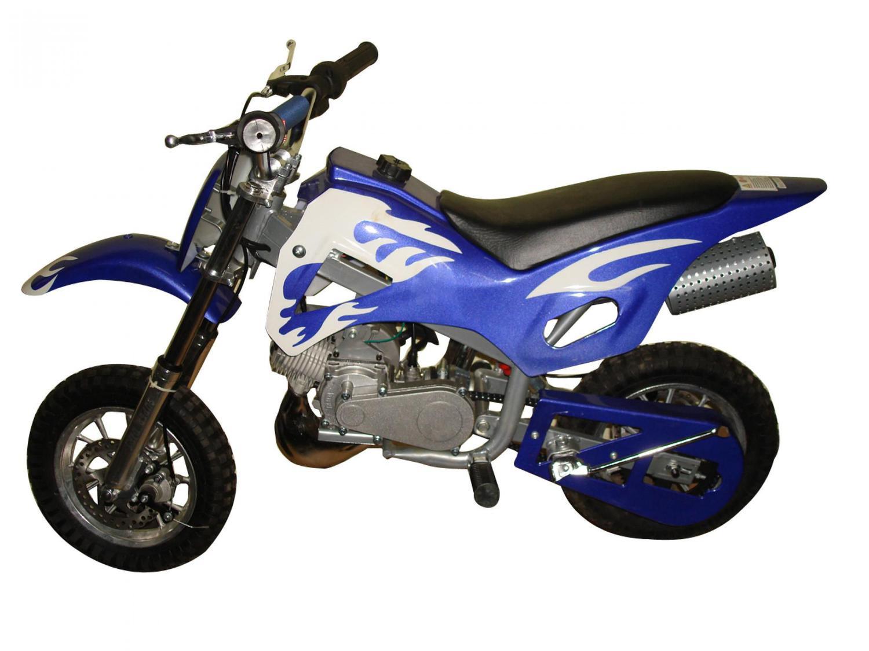 f6d1aac20ff Mini Moto Cross 49cc BZ Fire Azul automática partida a corda ...