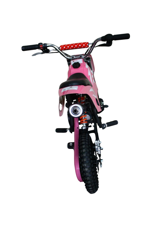 5fb748d8ef1 Mini Moto Cross 49cc BZ Fire Rosa automática partida a corda ...