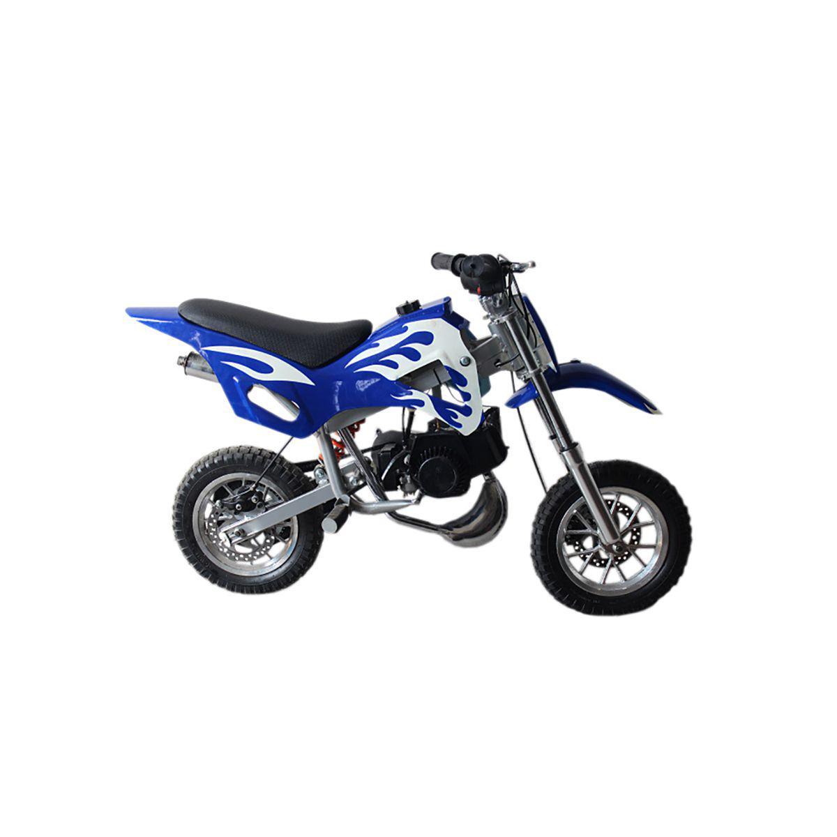 Mini Moto Cross 49cc Dirt Bike A Gasolina 2 Tempos Wvdb 006 Azul Importway Mini Moto Motorizada Magazine Luiza