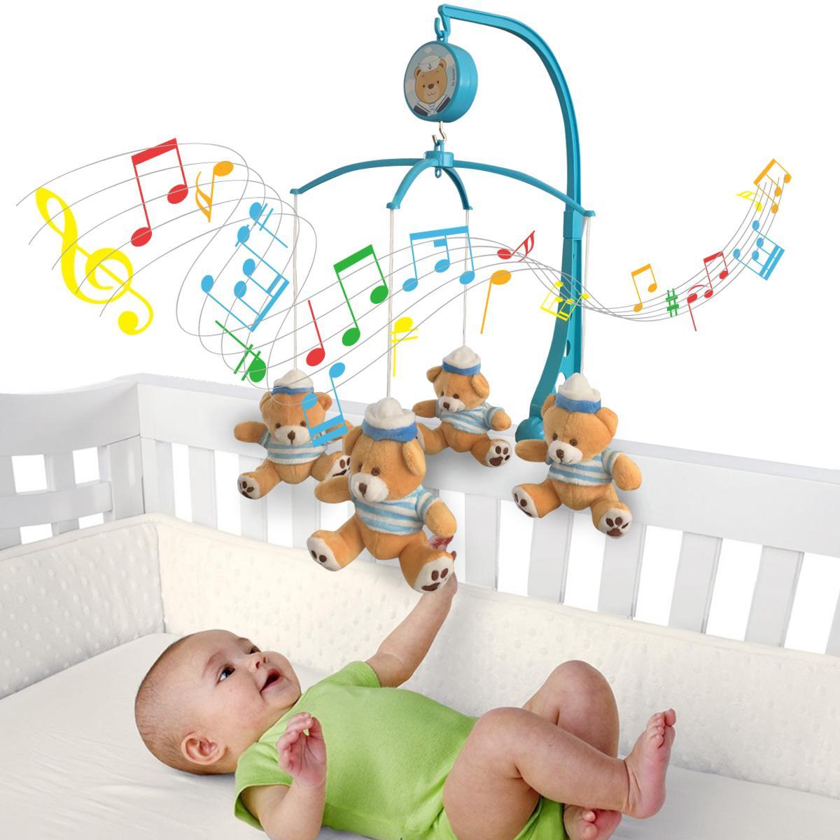 351dd74c6a Móbile em Pelúcia Giratório Musical De Bebê Para Berço Marinheiro Ursinho -  Kitstar R  99