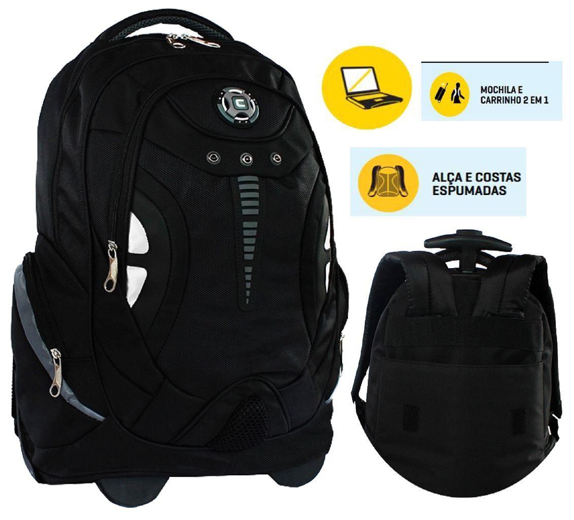 129b512243 Mochila Carrinho Notebook 15.6 Reforçada Escolar Esportiva Faculdade -  Convoy R  155