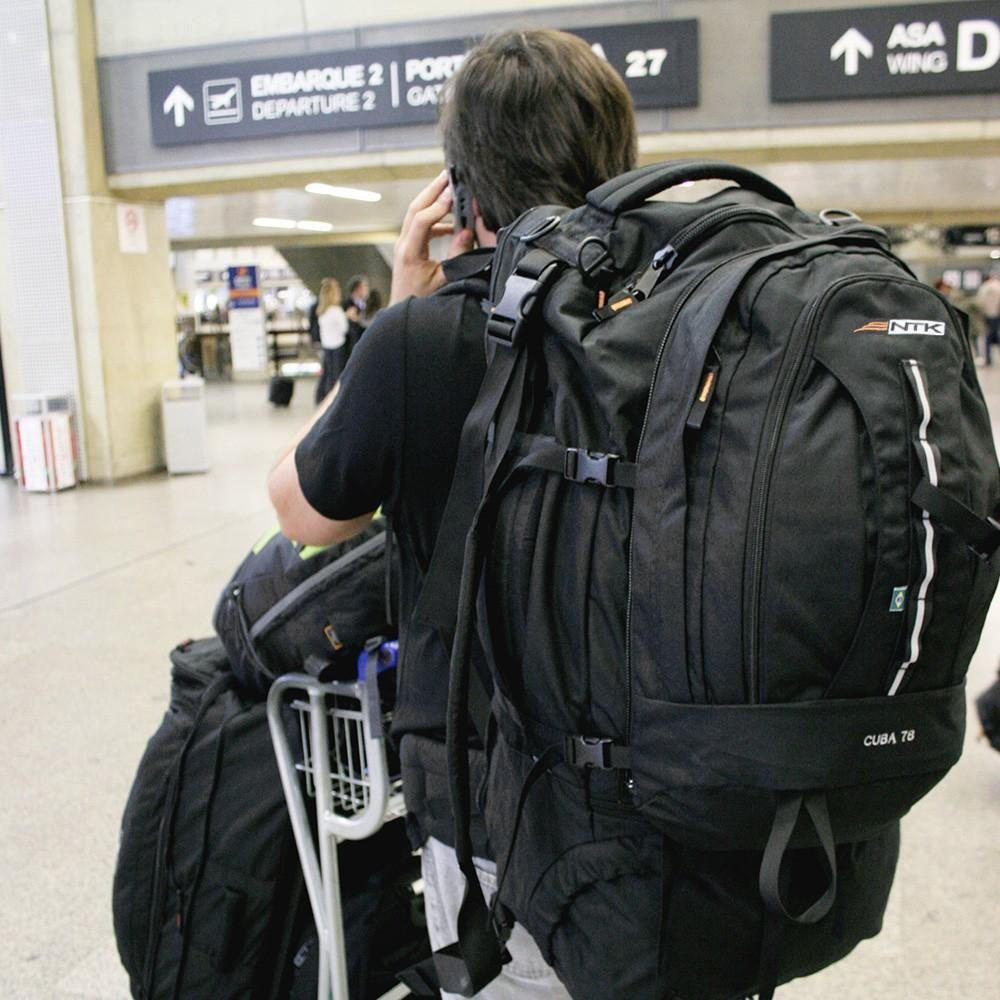 1fb351353 Mochila de viagem preta 78L - CUBA - Nautika R$ 658,00 à vista. Adicionar à  sacola