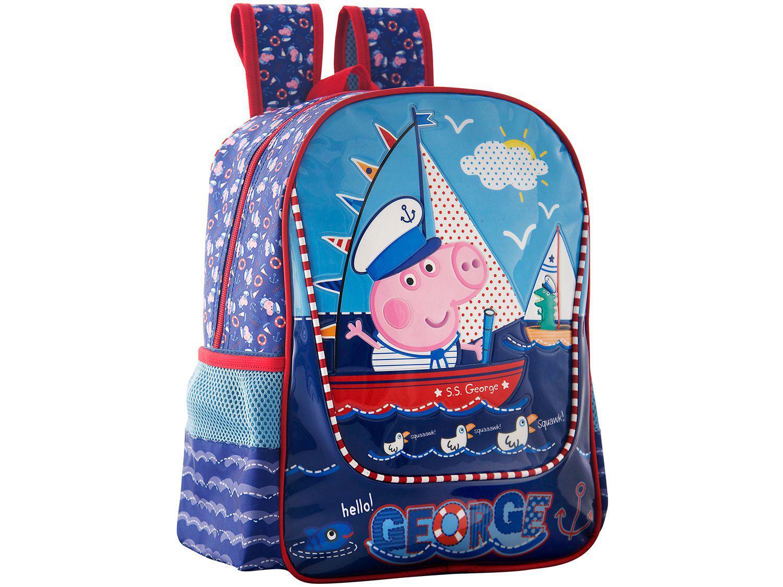 6cab12c2a Mochila Escolar Tam. M Xeryus - Peppa Pig George Marinheiro Produto não  disponível