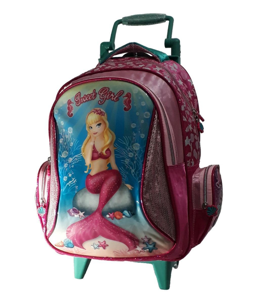 fb72a46dd Mochila Rodinha Infantil Feminina Sweet Girl Sereia Rosa - Santino R$ 89,90  à vista. Adicionar à sacola
